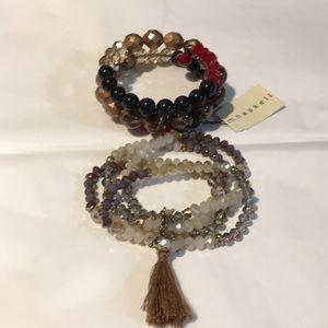 Gorgeous bead bracelets one NWT